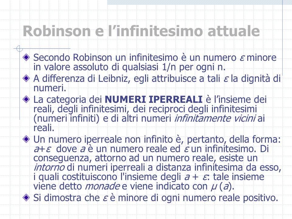 Robinson e l'infinitesimo attuale