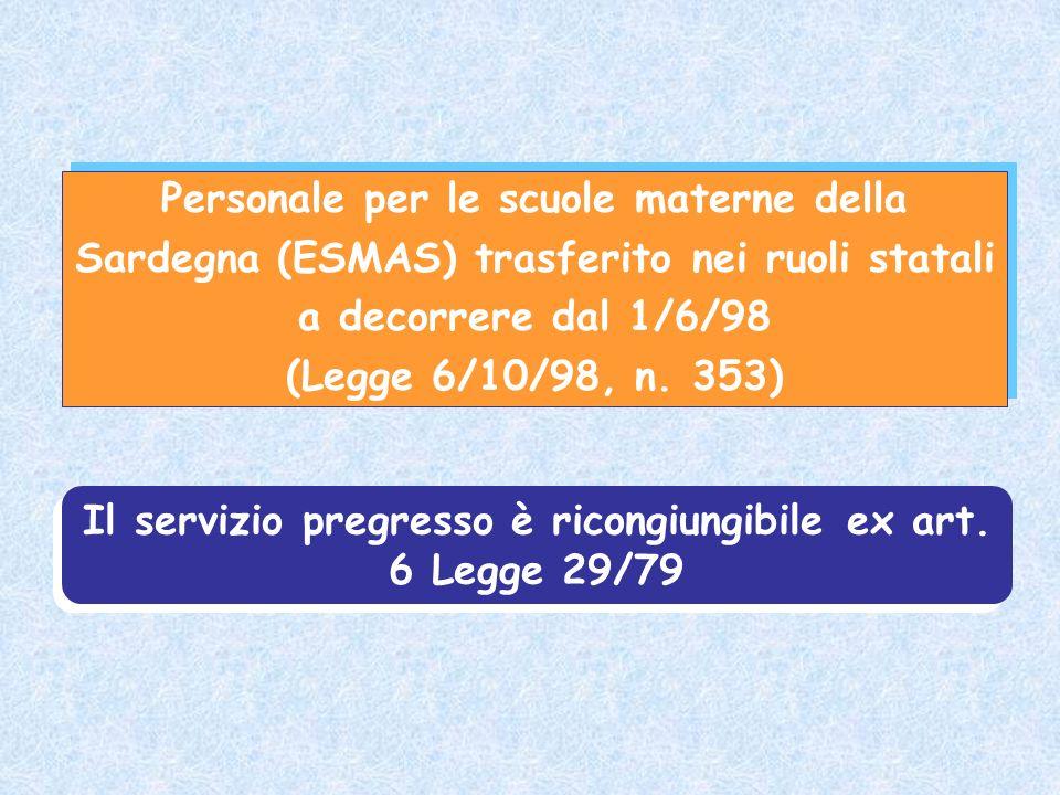 Personale per le scuole materne della