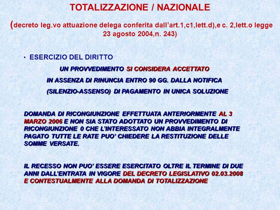 TOTALIZZAZIONE / NAZIONALE