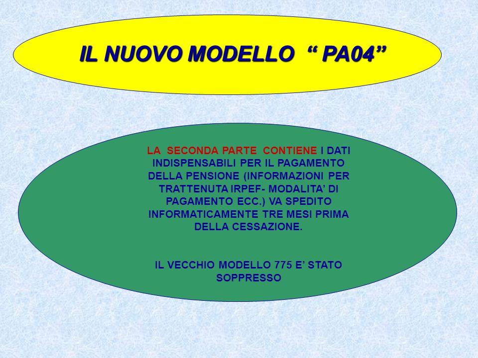 IL VECCHIO MODELLO 775 E' STATO SOPPRESSO