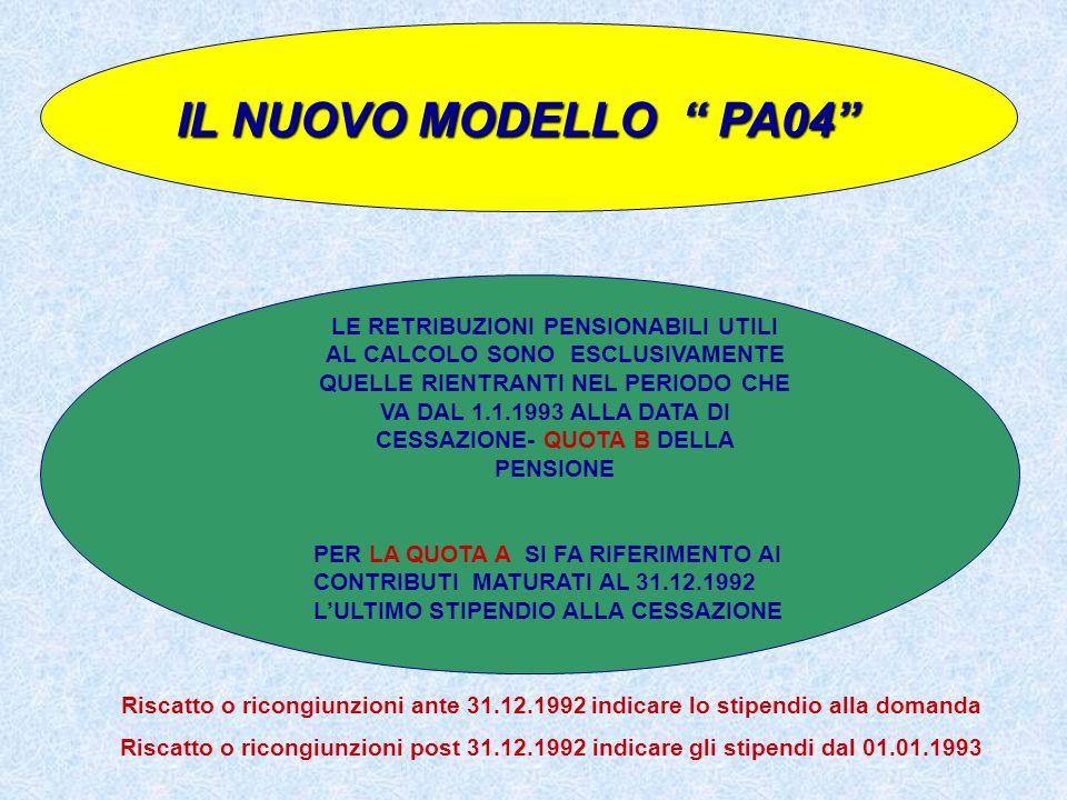 IL NUOVO MODELLO PA04