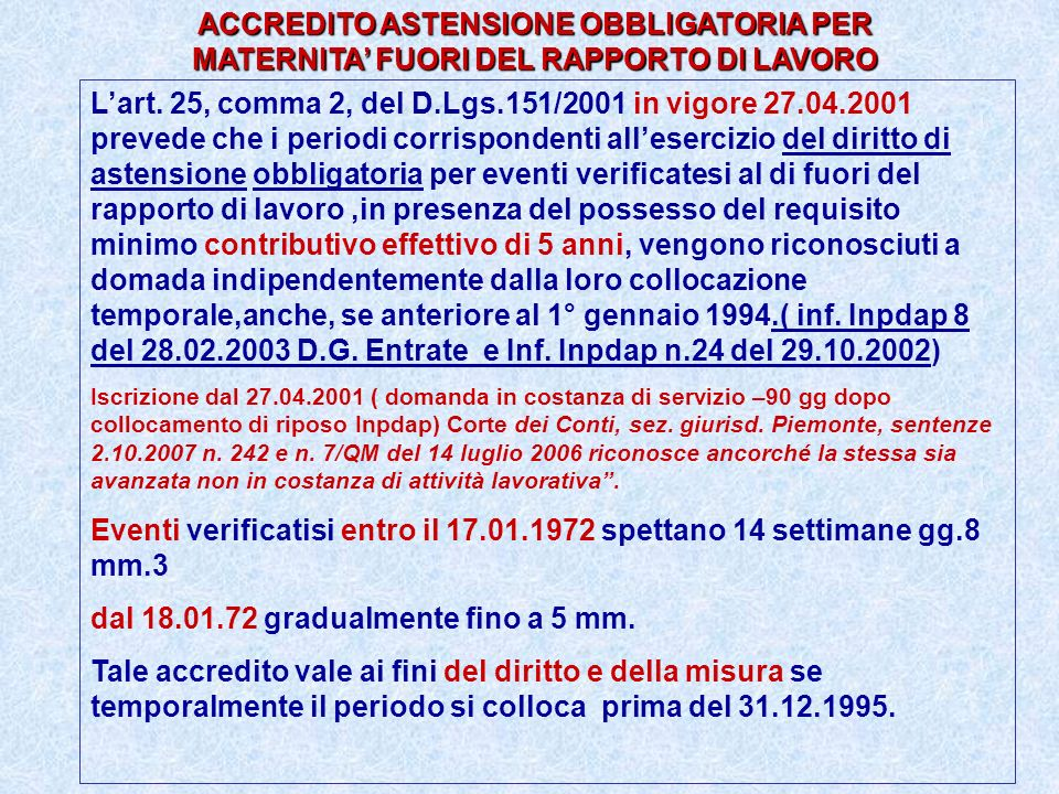 dal 18.01.72 gradualmente fino a 5 mm.