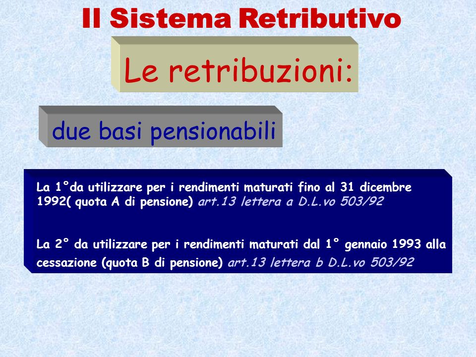 Il Sistema Retributivo