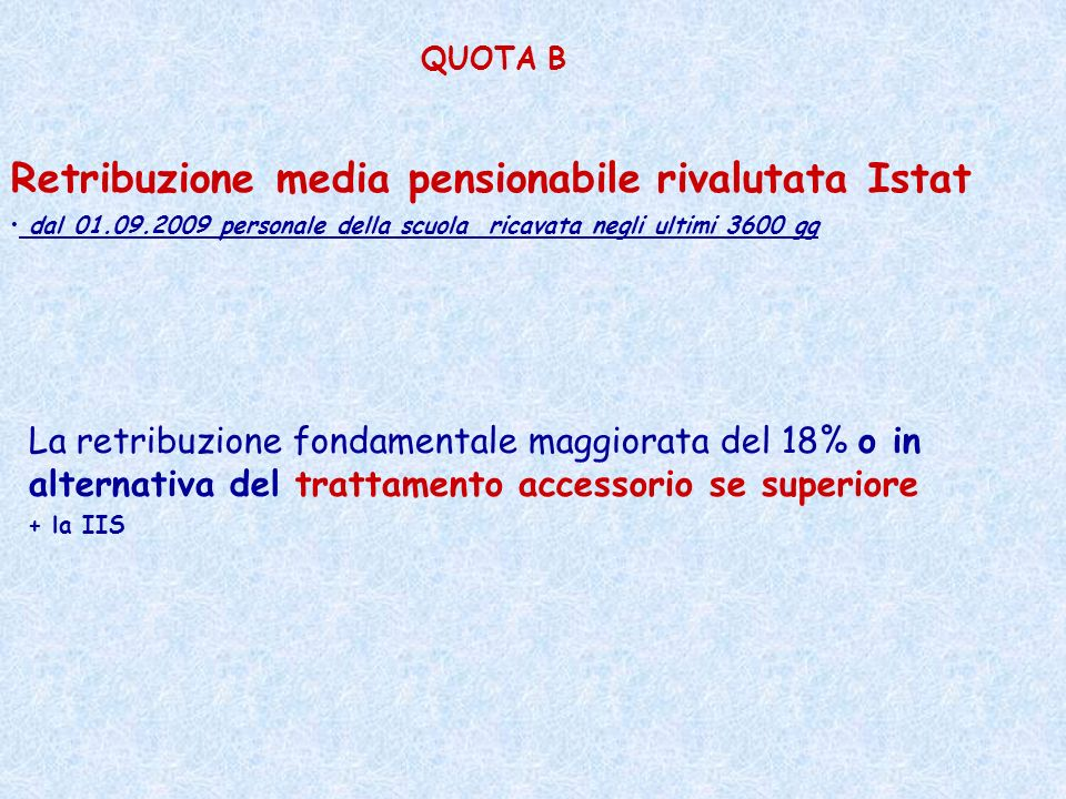 Retribuzione media pensionabile rivalutata Istat