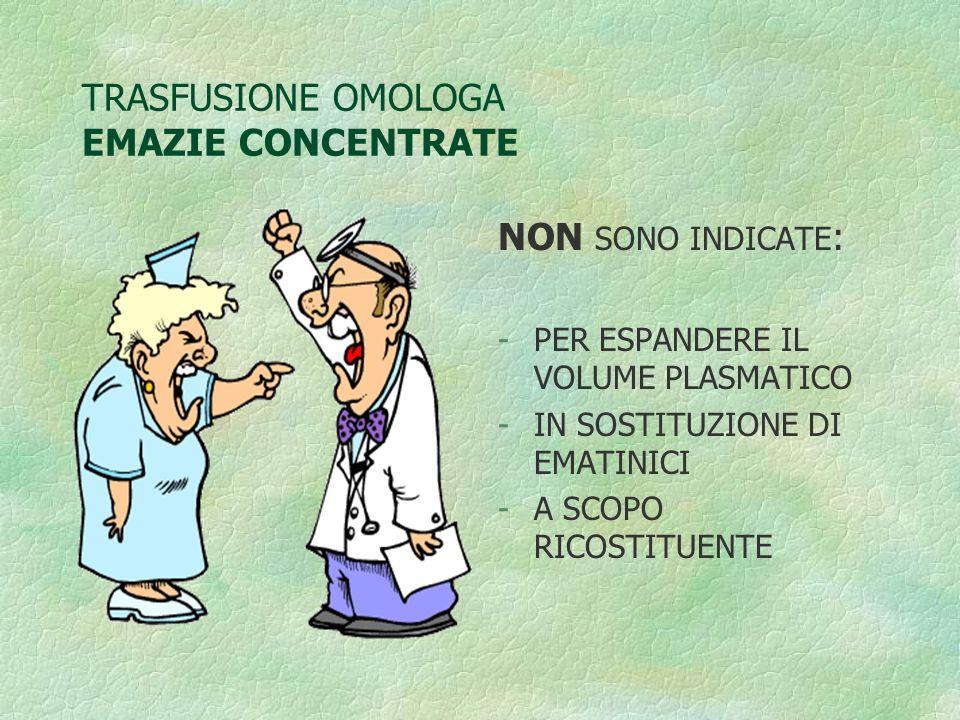 TRASFUSIONE OMOLOGA EMAZIE CONCENTRATE