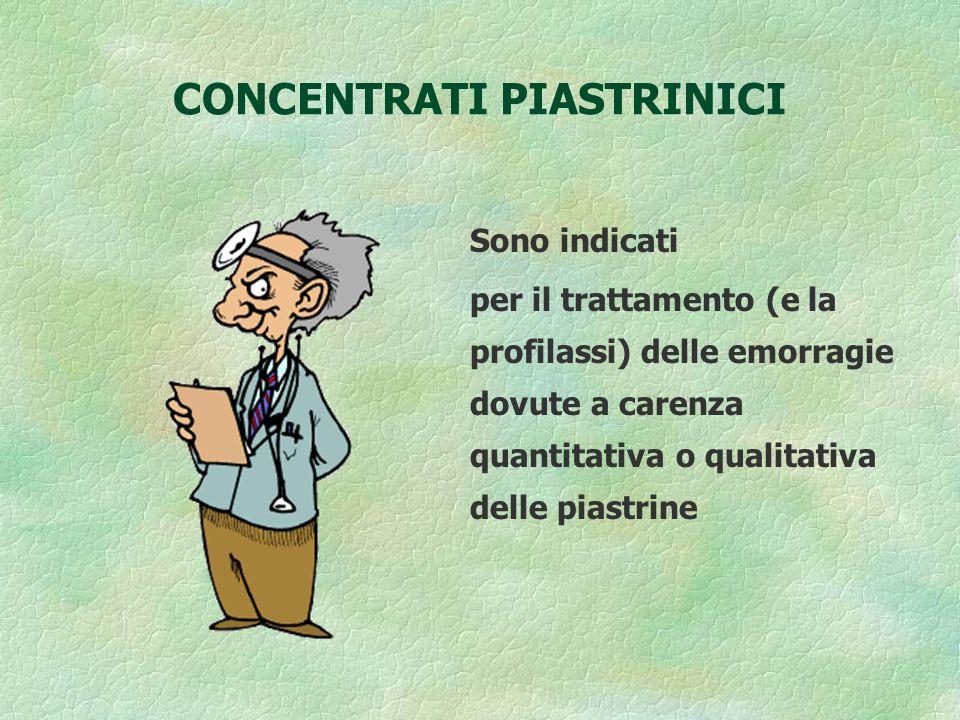CONCENTRATI PIASTRINICI