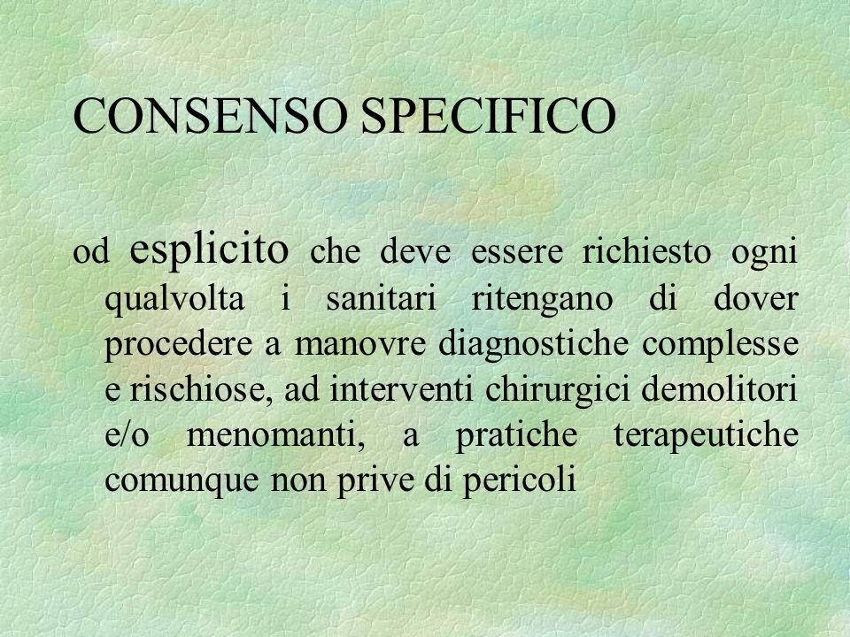 CONSENSO SPECIFICO