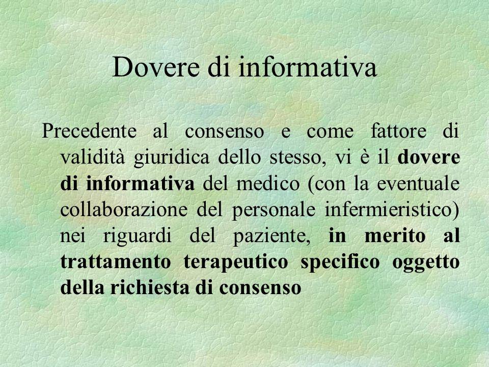 Dovere di informativa