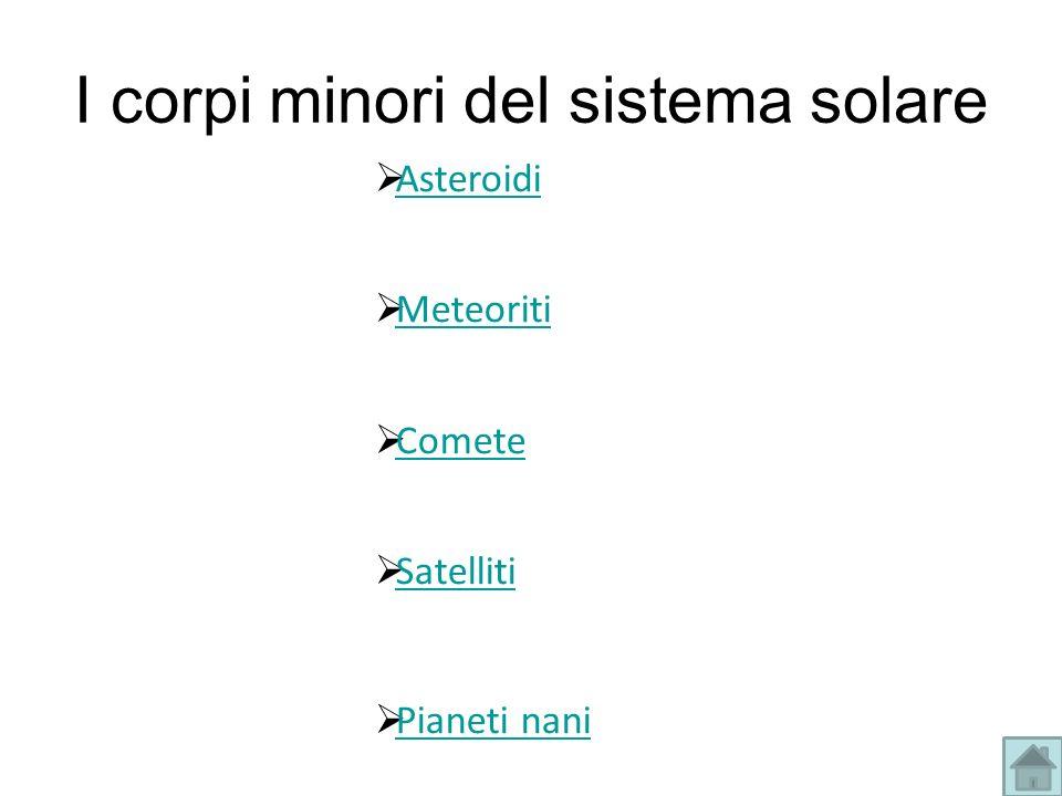 I corpi minori del sistema solare
