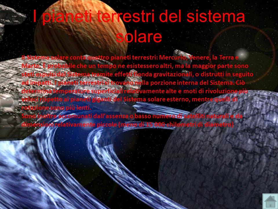 I pianeti terrestri del sistema solare