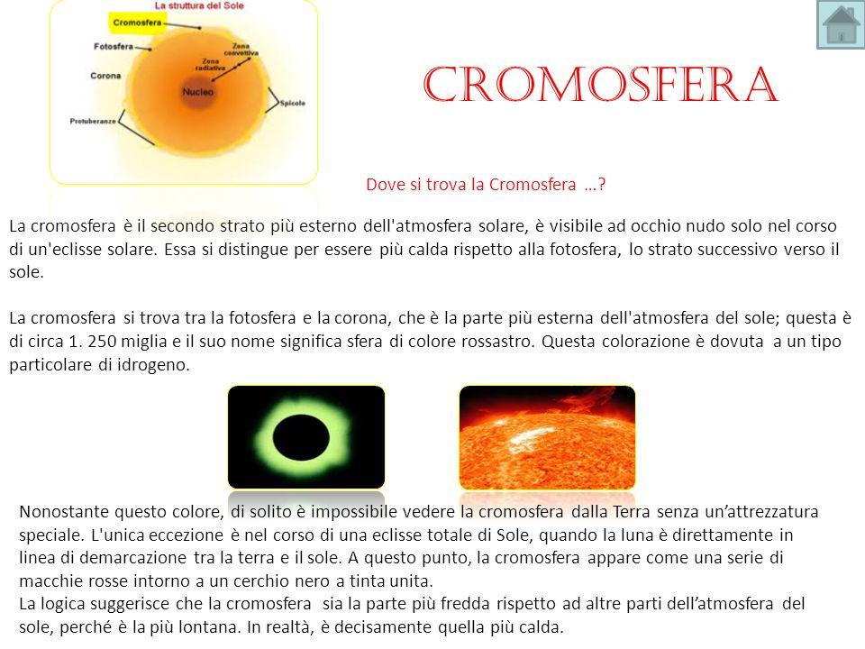 Cromosfera Dove si trova la Cromosfera …