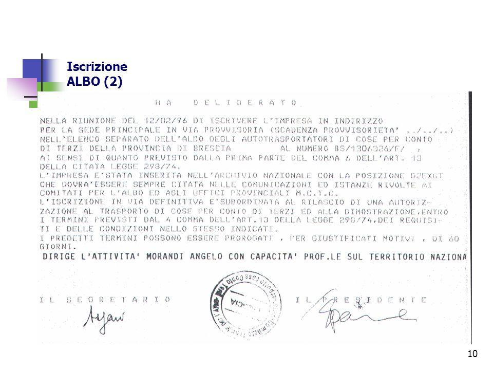 Iscrizione ALBO (2)