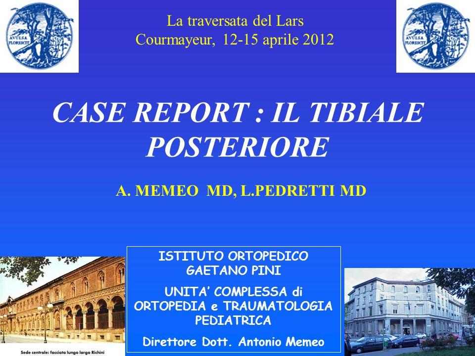 CASE REPORT : IL TIBIALE POSTERIORE