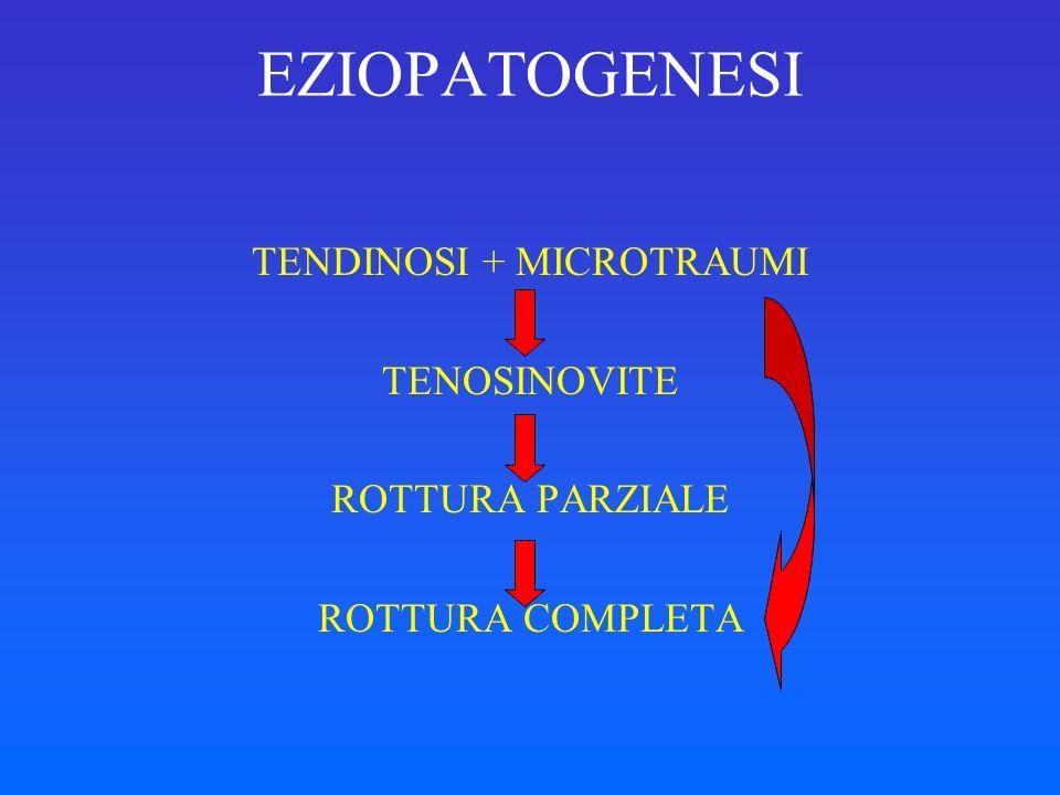 TENDINOSI + MICROTRAUMI