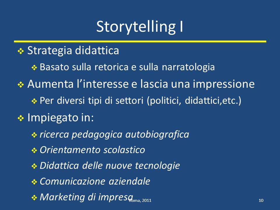 Storytelling I Strategia didattica