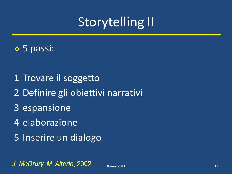 Storytelling II 5 passi: 1 Trovare il soggetto