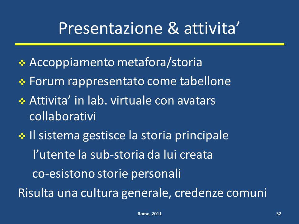 Presentazione & attivita'