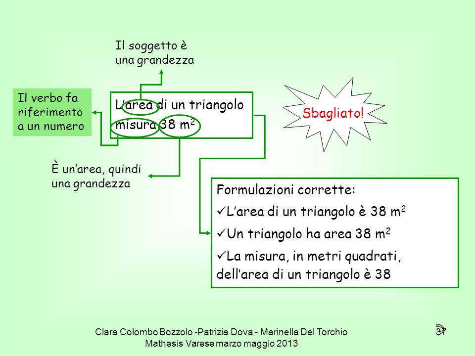 L'area di un triangolo misura 38 m2