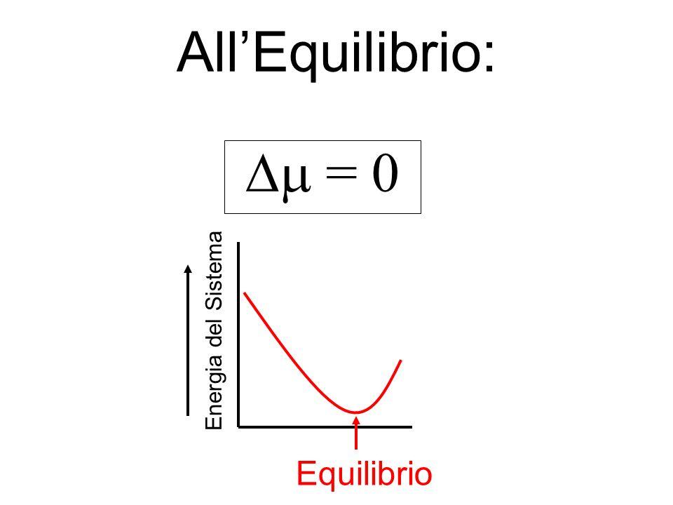 All'Equilibrio: Dm = 0 Energia del Sistema Equilibrio