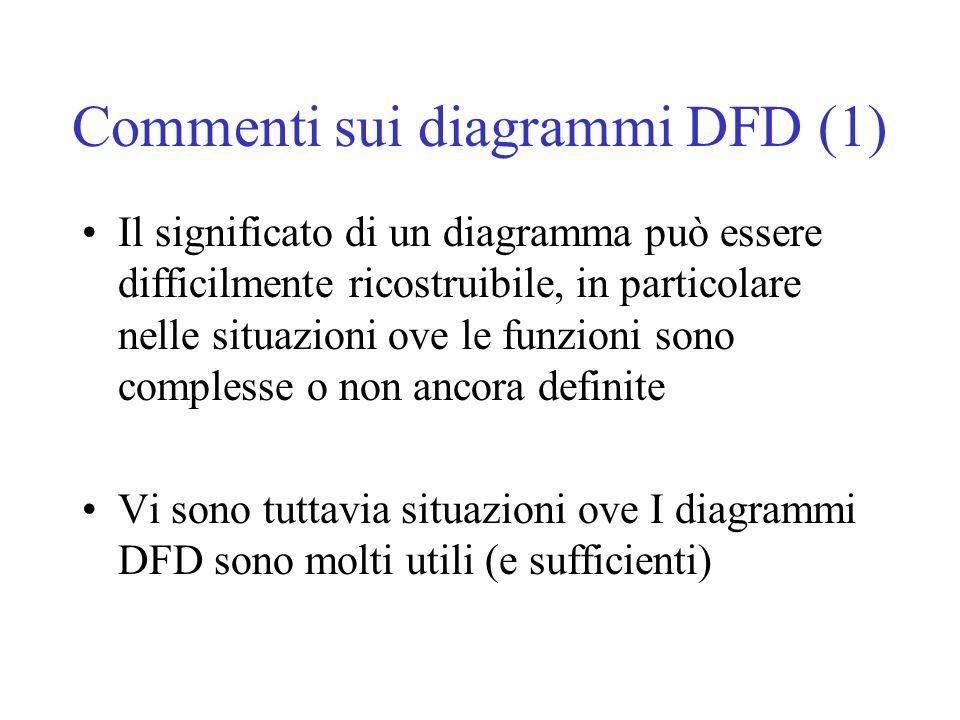 Commenti sui diagrammi DFD (1)