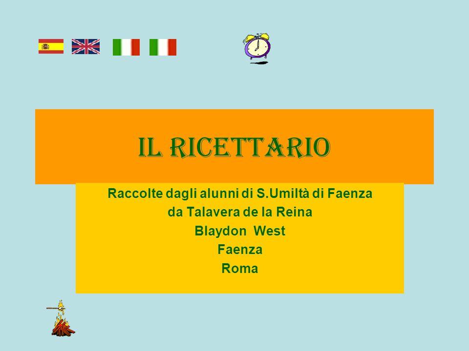 Raccolte dagli alunni di S.Umiltà di Faenza