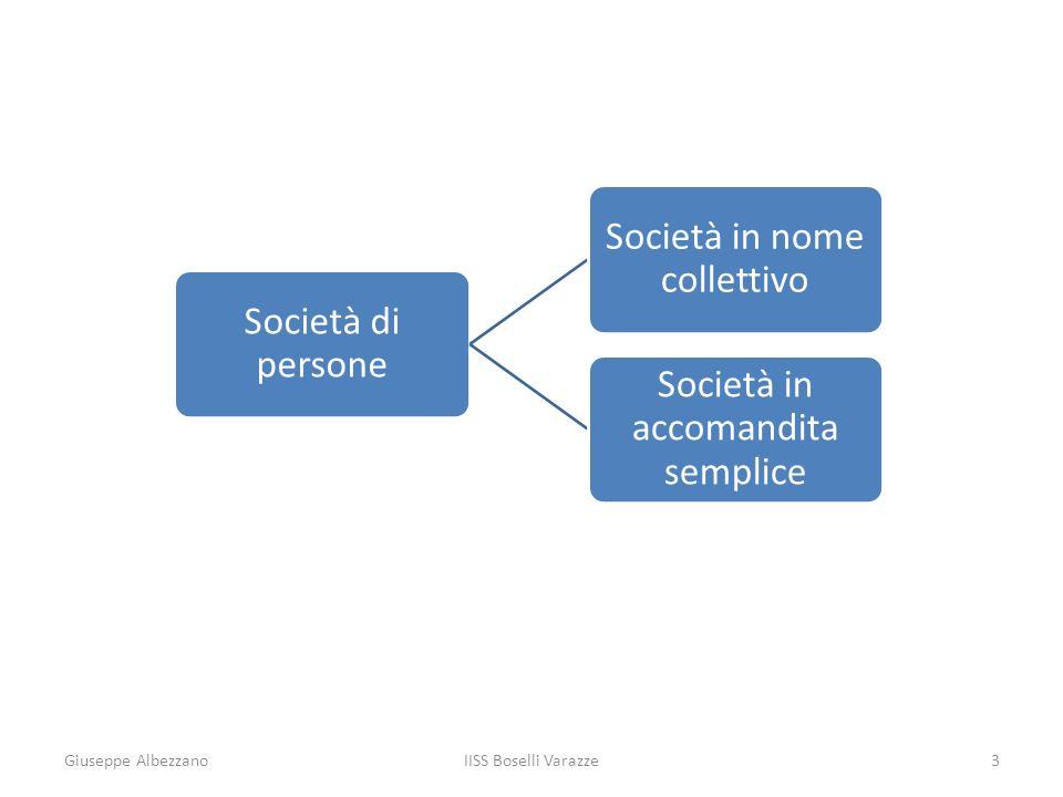 Giuseppe Albezzano IISS Boselli Varazze Società di persone