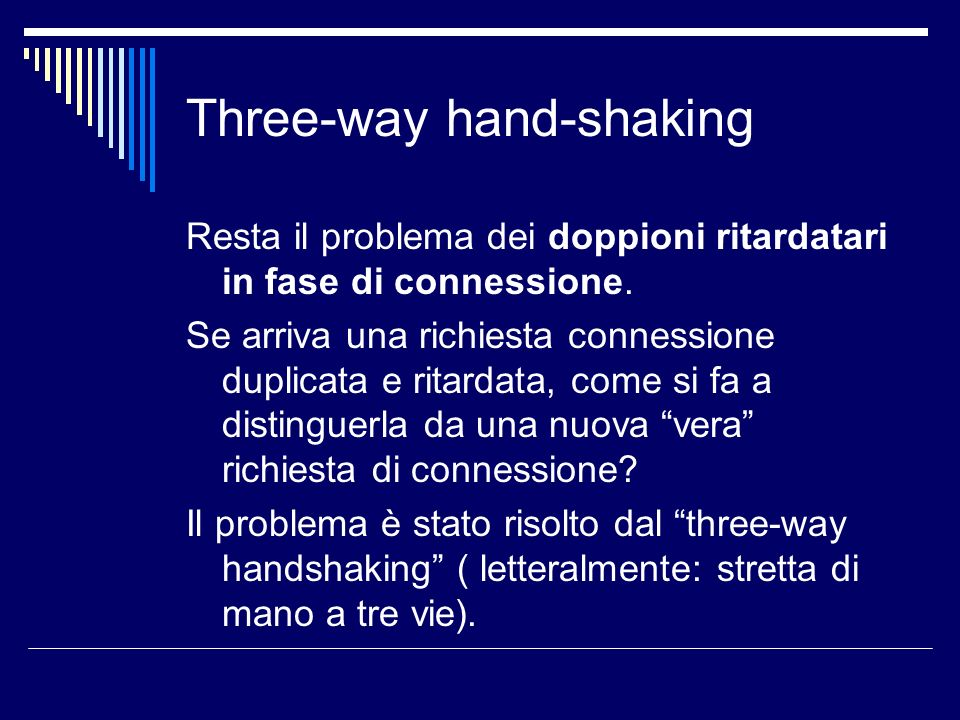 Three-way hand-shaking