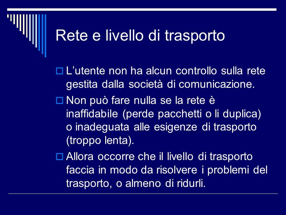 Rete e livello di trasporto