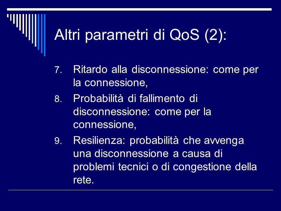 Altri parametri di QoS (2):