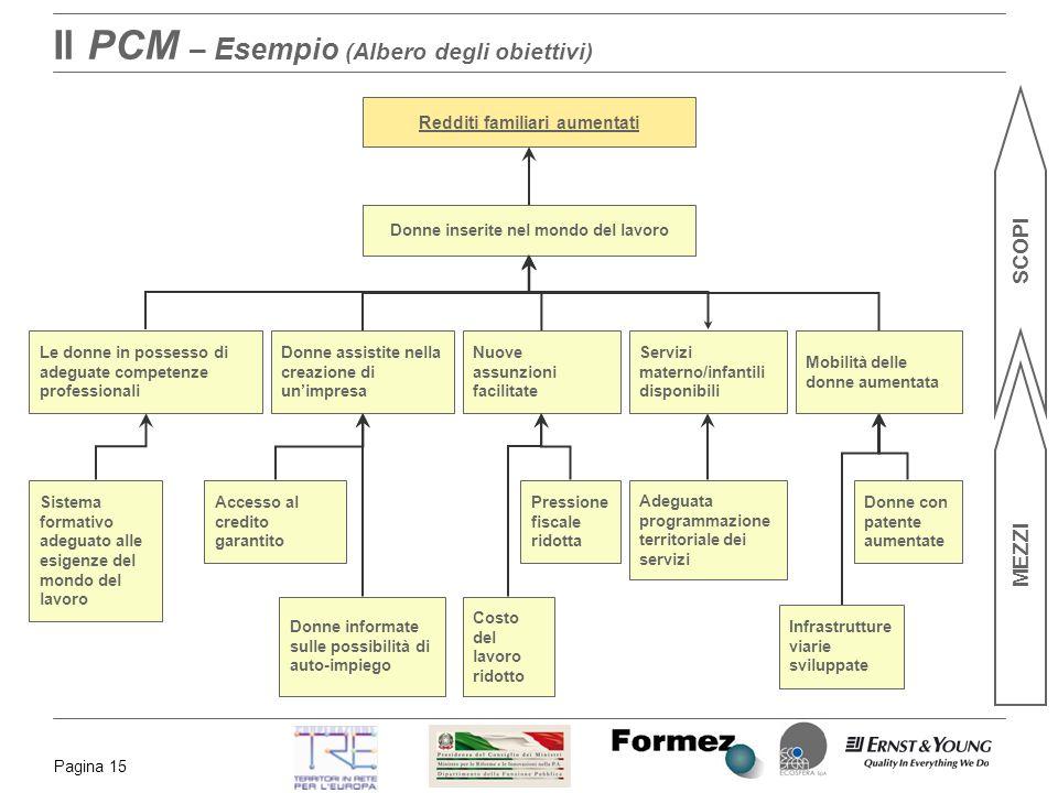 Il PCM – Esempio (Albero degli obiettivi)