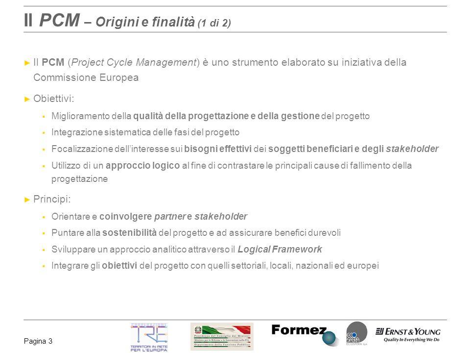 Il PCM – Origini e finalità (1 di 2)