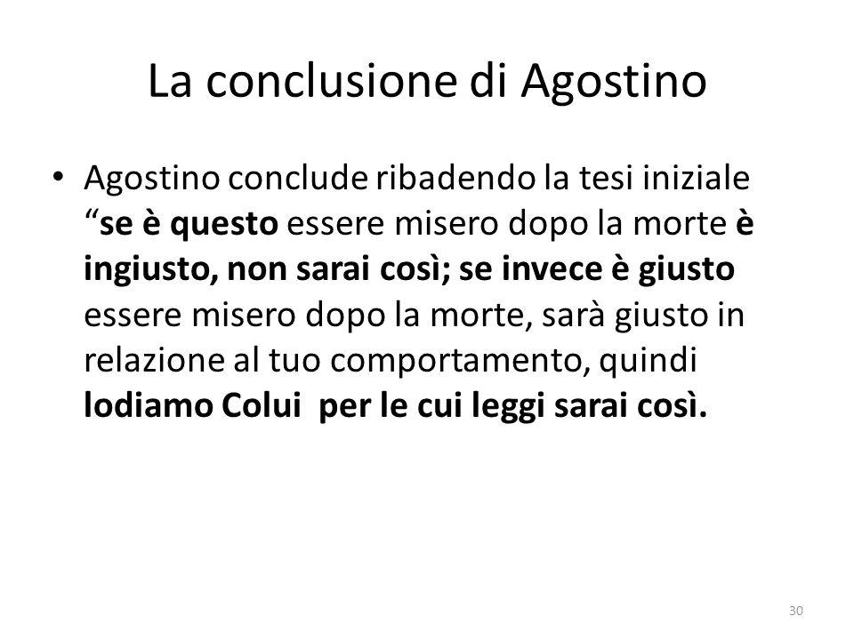 La conclusione di Agostino