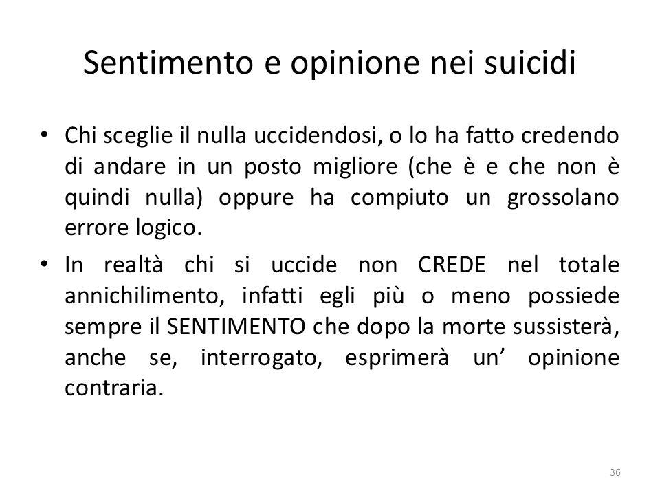 Sentimento e opinione nei suicidi