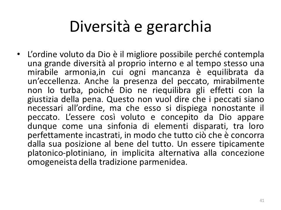 Diversità e gerarchia
