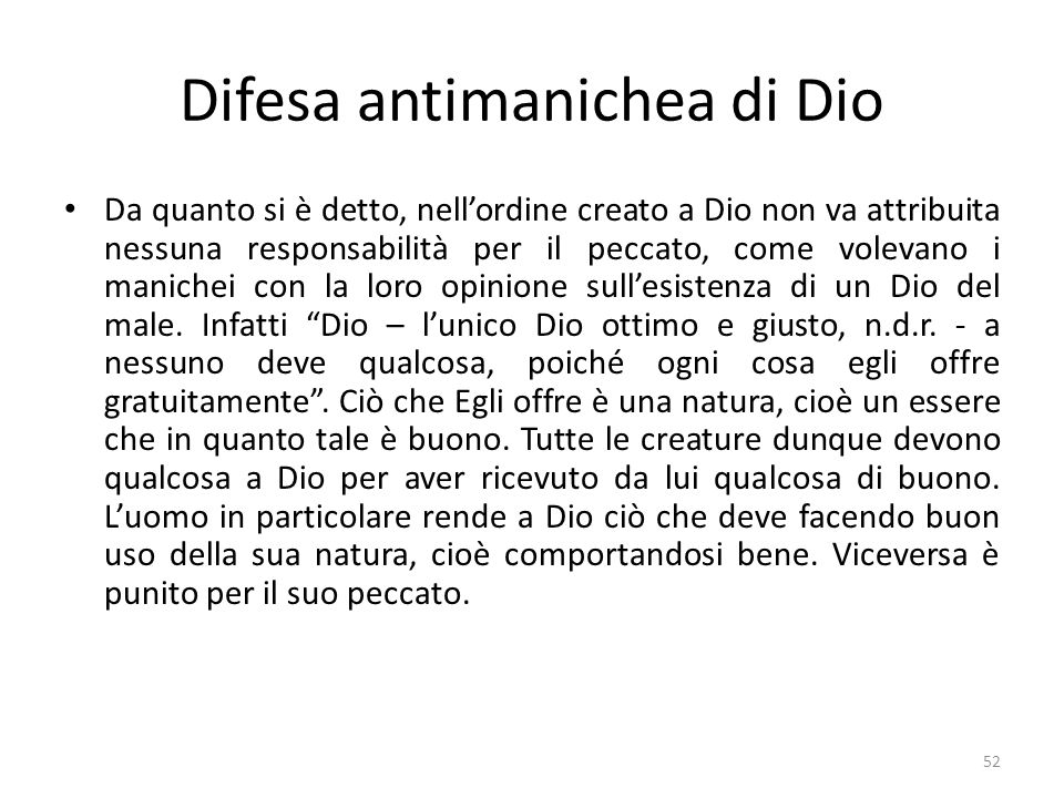 Difesa antimanichea di Dio