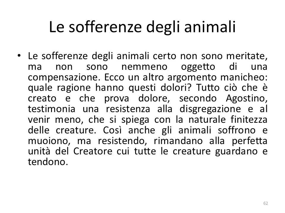 Le sofferenze degli animali
