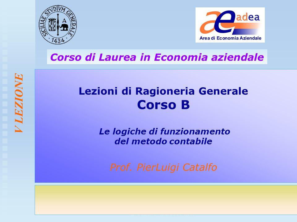 Corso di Ragioneria Generale- Corso B CdL EA - a.a. 2008-2009