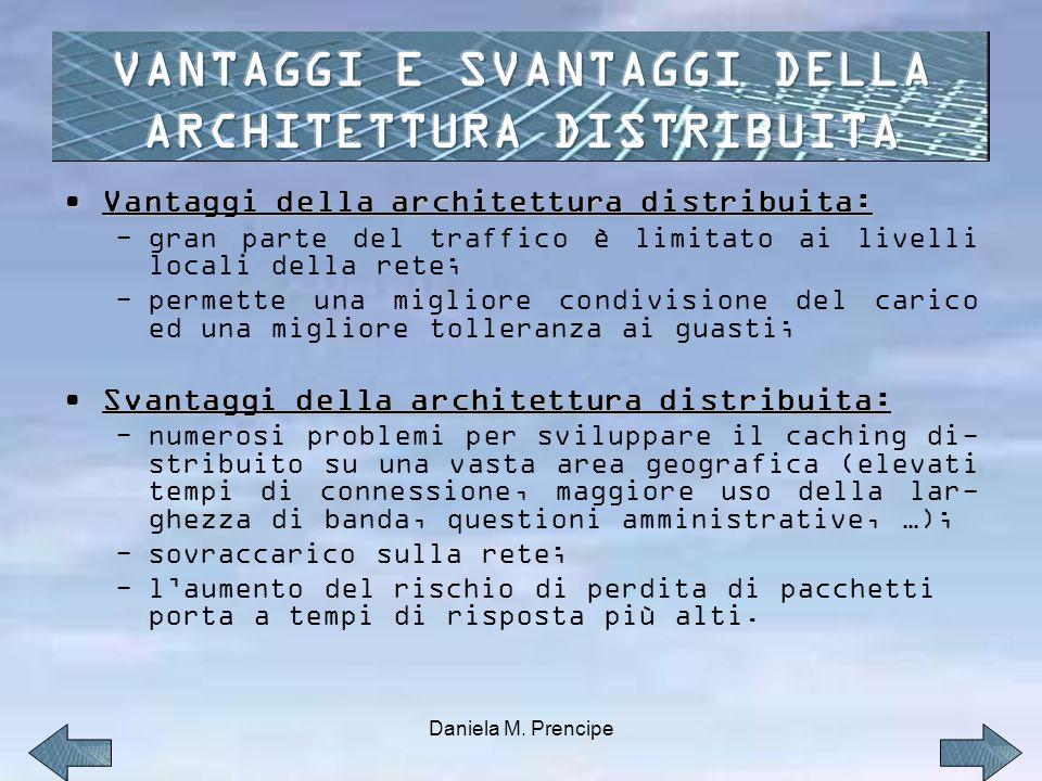 VANTAGGI E SVANTAGGI DELLA ARCHITETTURA DISTRIBUITA