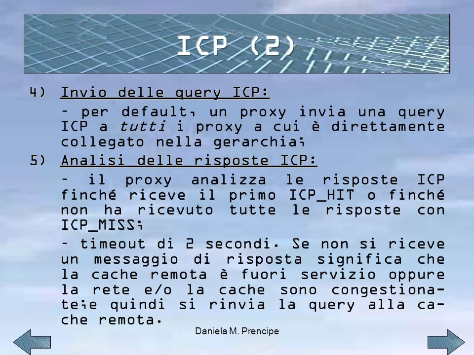 ICP (2) Invio delle query ICP: