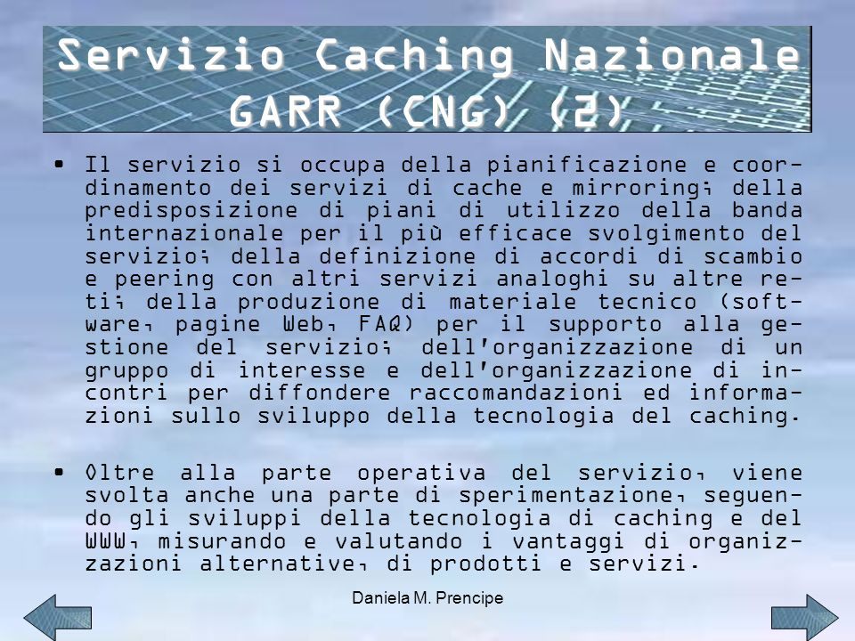 Servizio Caching Nazionale GARR (CNG) (2)