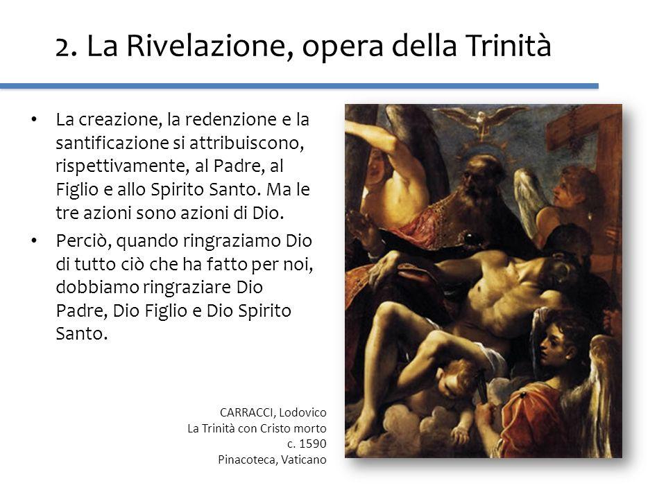 2. La Rivelazione, opera della Trinità