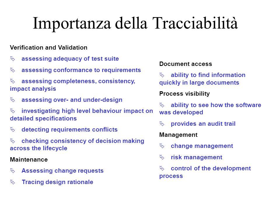 Importanza della Tracciabilità