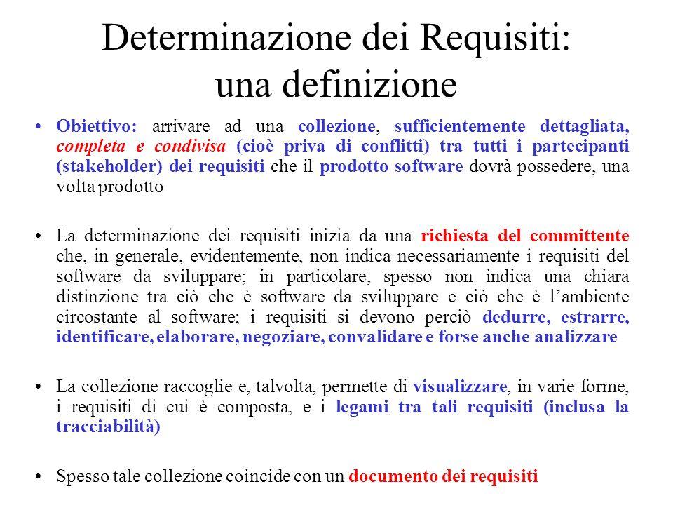 Determinazione dei Requisiti: una definizione