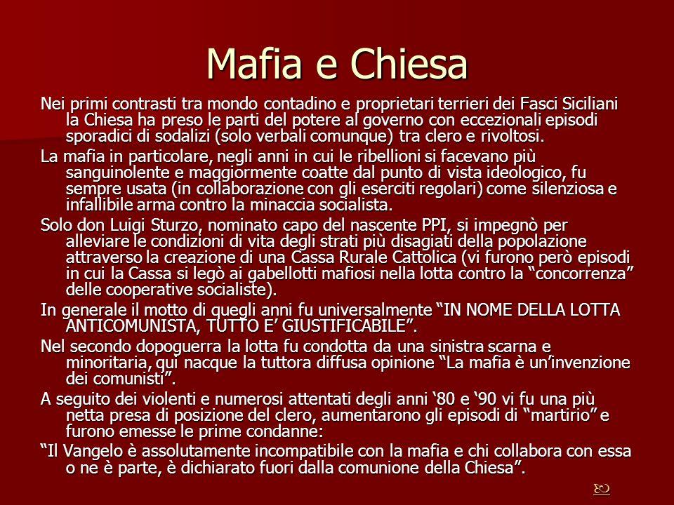 Mafia e Chiesa