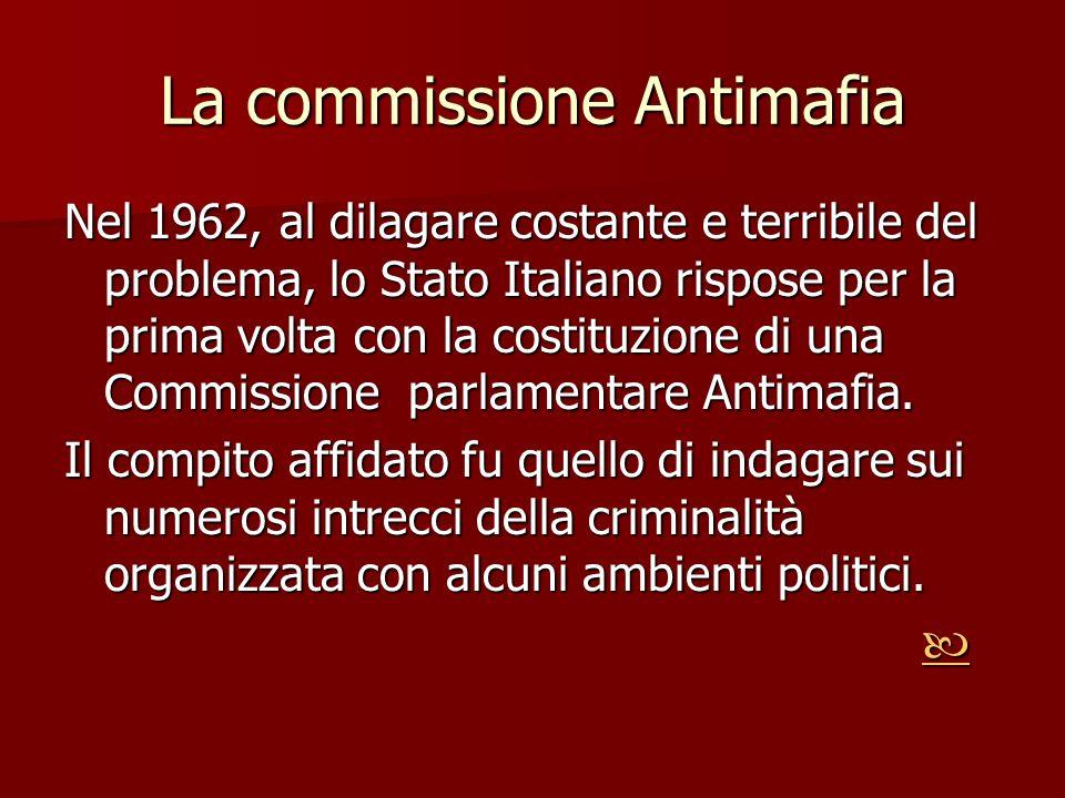 La commissione Antimafia