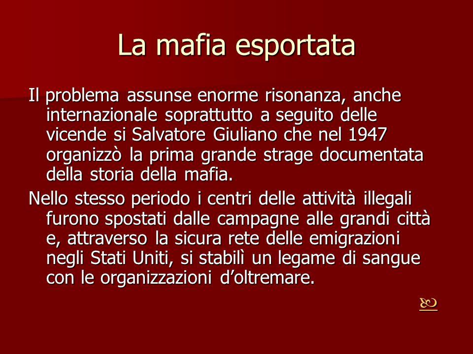 La mafia esportata