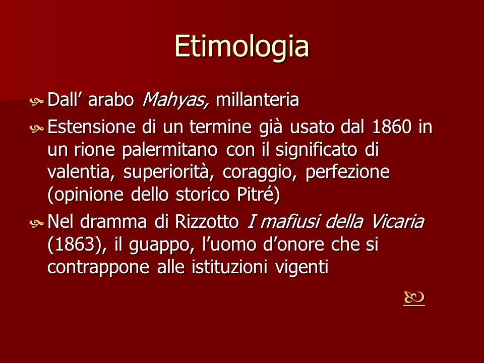 Etimologia Dall' arabo Mahyas, millanteria