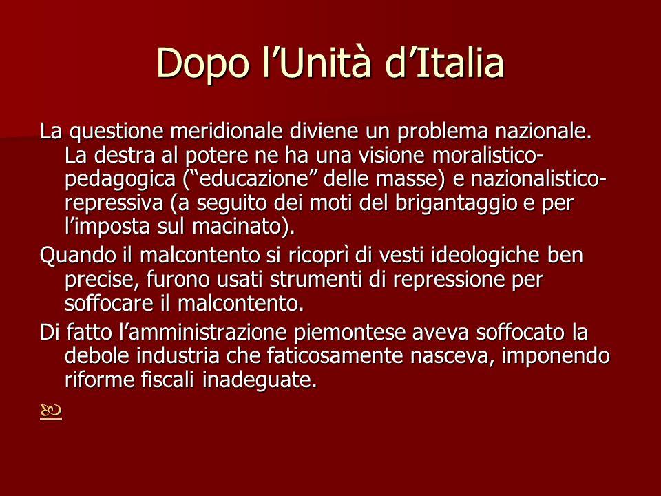 Dopo l'Unità d'Italia