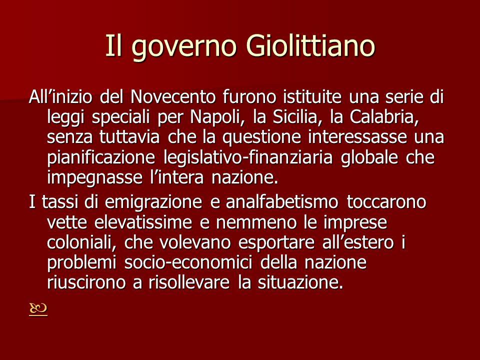 Il governo Giolittiano