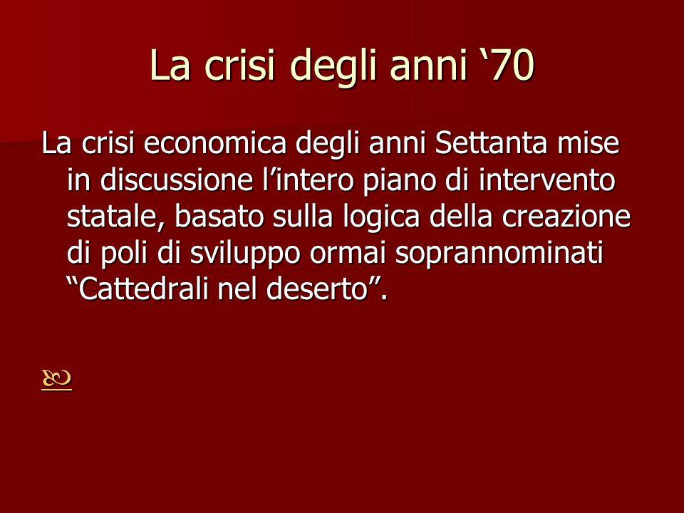 La crisi degli anni '70